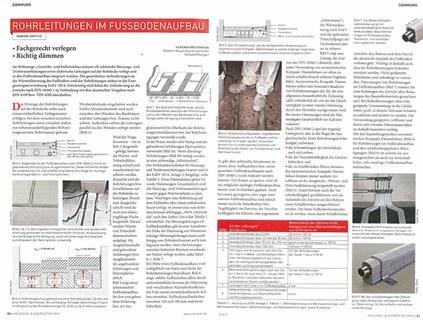 Rohrleitungen im Fußbodenaufbau
